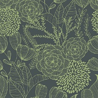 Alannah Green Botanical Wallpaper