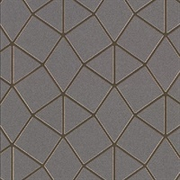 Albion Taupe Geometric Wallpaper