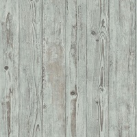 Albright Light Blue Weathered Oak Panels Wallpaper