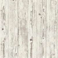 Albright White Weathered Oak Panels Wallpaper