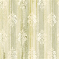 Alison Green Damask Motif  Wallpaper