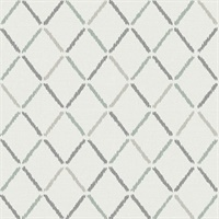 Allotrope Grey Linen Geometric Wallpaper