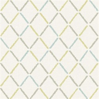 Allotrope Multicolor Linen Geometric Wallpaper