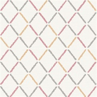 Allotrope Rose Linen Geometric Wallpaper