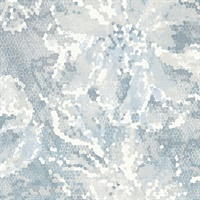 Allure Blue Floral Wallpaper