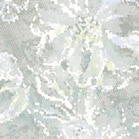 Allure Seafoam Floral Wallpaper