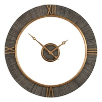Alphonzo Charcoal Stained Wall Clock