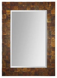 Ambrosia Copper Mosaic Mirror