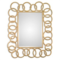 Amena Gold Rings Mirror