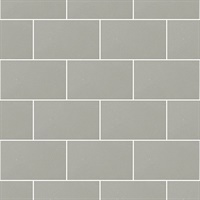 Angelo Grey Subway Tile Wallpaper