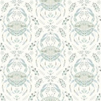 Annapolis Teal Crustation Wallpaper