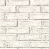 Appleton Off-White Faux Weathered Brick Wallpaper