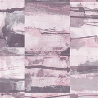 Aquarelle Tile Wallpaper in Pink, Purple & Greys
