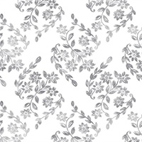 Arabesque Grey Floral Trail Wallpaper