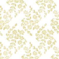Arabesque Mustard Floral Trail Wallpaper