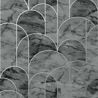 Arch Grey Geometric Wallpaper