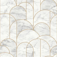 Arch Light Grey Geometric Wallpaper