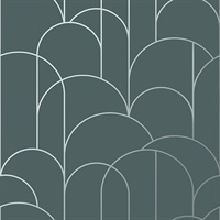 Arch Slate Geometric Wallpaper