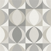 Archer Grey Linen Geometric Wallpaper