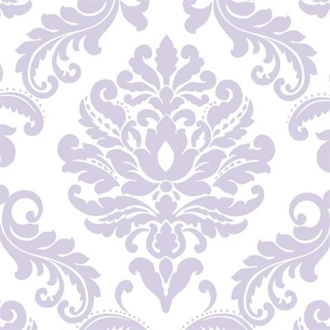 Nu1396 Purple Ariel Peel Stick Wallpaper By Nuwallpaper