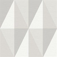 Aspect Grey Geometric Faux Grasscloth Wallpaper