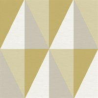 Aspect Yellow Geometric Faux Grasscloth Wallpaper