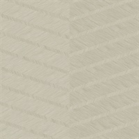 Aspen Champagne Chevron Wallpaper