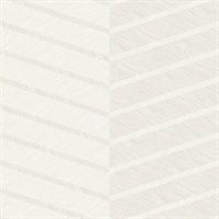 Aspen White Chevron Wallpaper