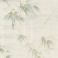 Atlis Neutral Bamboo Wallpaper