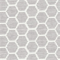 Aura Lavender Honeycomb Wallpaper