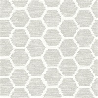 Aura Platinum Honeycomb Wallpaper