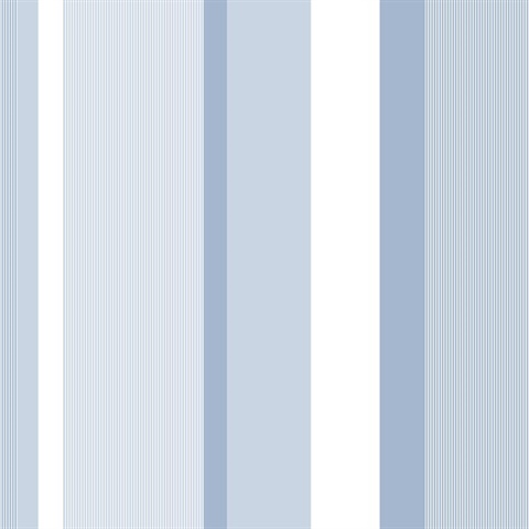 Blue Awning Stripe Peel & Stick Wallpaper