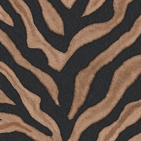 Balck and Brown Zebra Print Wallpaper