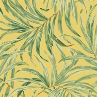 Yellow Bali Leaves Wallpaper