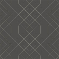 Ballard Grey Geometric Wallpaper