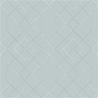 Ballard Light Blue Geometric Wallpaper