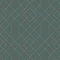 Ballard Teal Geometric Wallpaper
