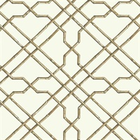 Gold Bamboo Trellis Wallpaper