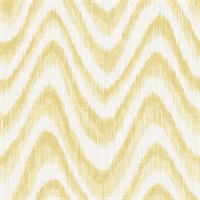 Bargello Yellow Faux Grasscloth Wave Wallpaper