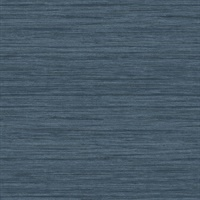 Barnaby Indigo Faux Grasscloth Wallpaper