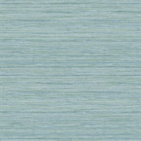 Barnaby Light Blue Faux Grasscloth Wallpaper