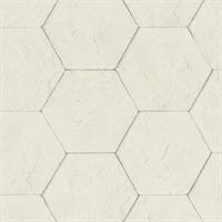 Bascom Dove Stone Hexagon Wallpaper