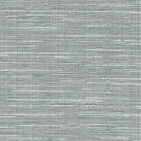 Bay Ridge Blue Linen Texture Wallpaper