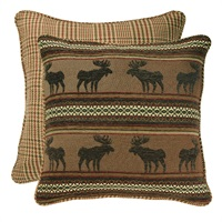 Bayfield Moose & Houndstooth Euro Sham