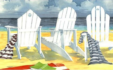 Beach Chairs - Wallpaper Border