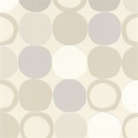 Beard Light Grey Geometric Wallpaper