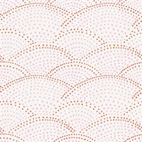 Bennett Pink Dotted Scallop Wallpaper