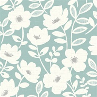 Bergman Teal Scandi Flower