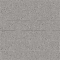 Bernice Taupe Geometric Wallpaper