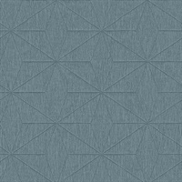 Bernice Teal Geometric Wallpaper
